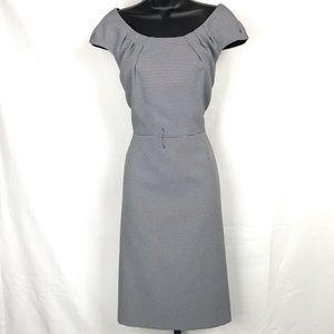 TAHARI Houndstooth Dress